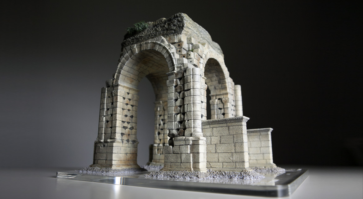3D printed model of the Roman Arch of Cáparra