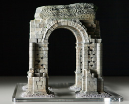 Rear View of Roman Arch of Cáparra Model
