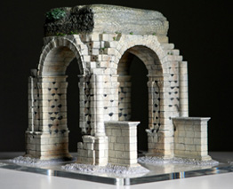 Perspective View of Roman Arch of Cáparra Model