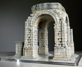 Lateral View of Roman Arch of Cáparra Model