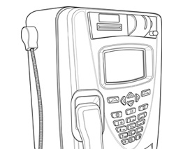 Public Payphone Line Drawing